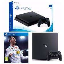 Play Station 4 1TB 2 joysticks fifa 2018 Fisico Nueva