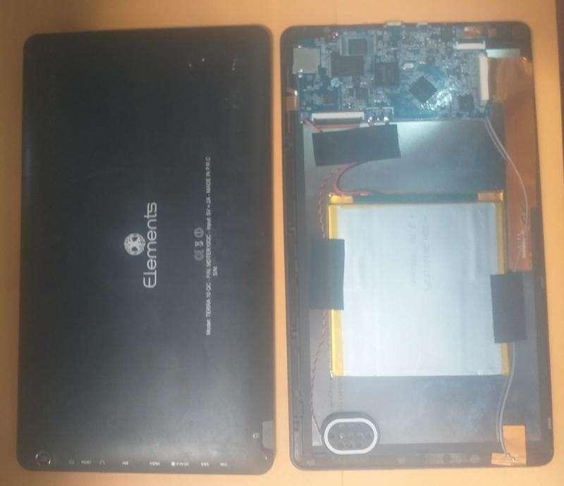 PANTALLA LCD Y PLACA DE TABLET ELEMENTS TERRA 10 QC - REPUESTOS