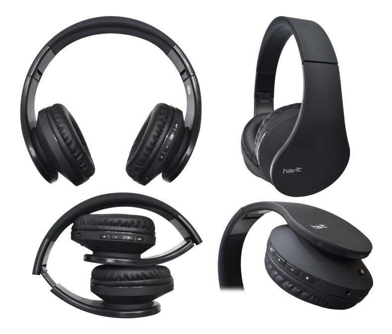 Audifono Bluetooth Havit Mp3 Aux Hv-i66-bk 40mm 110db