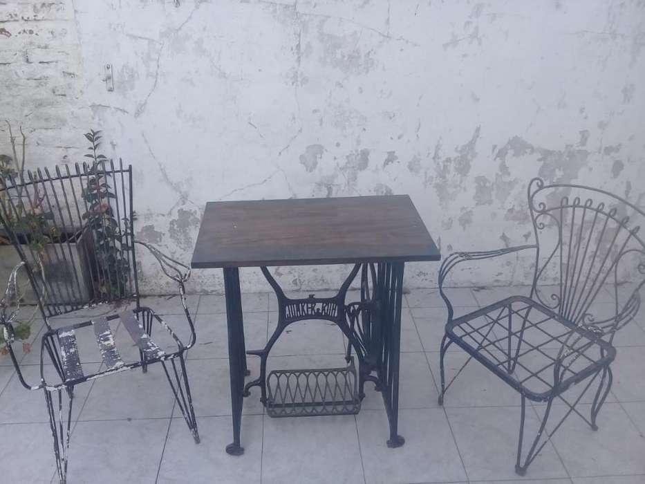 Mesa, <strong>silla</strong>s Y Maseteros de Hierro