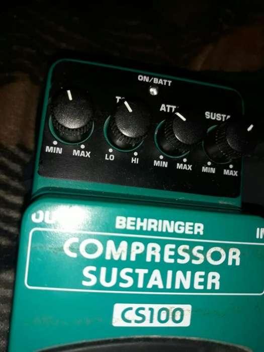 Pedal Compresor Behringer Nuevo