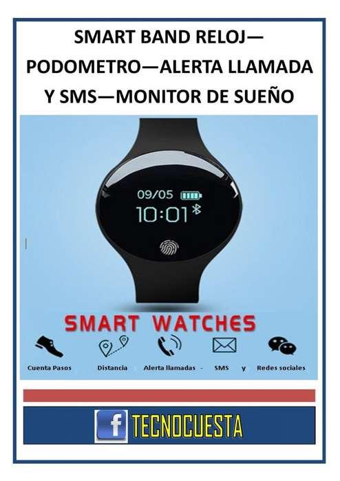 SMART BAND SANDA RELOJ PODOMETRO ALERTA DE LLAMADAS Y SMS