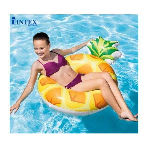 Intex Flotador Inflable Piña 56266 117mx86 Cms <strong>piscina</strong>