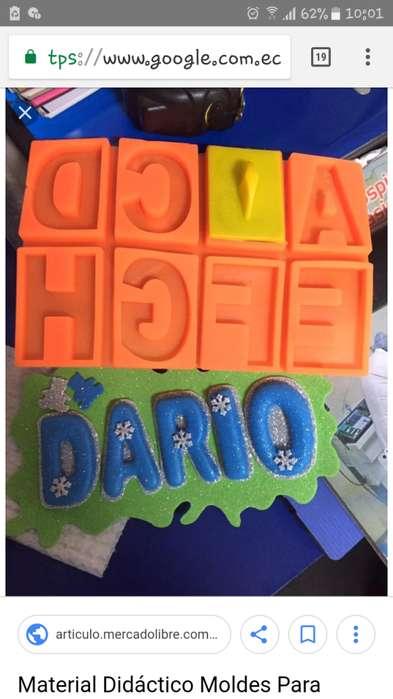 Moldes para letras y numeros en fomix material didactico