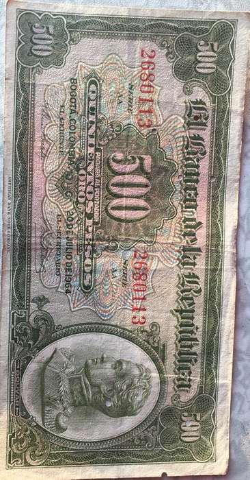Vendo Billete 500 Pesos - Gotico