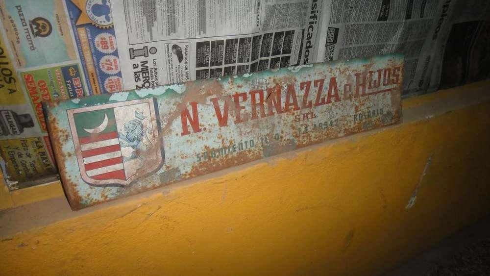 cartel antiguo de casa vernazza
