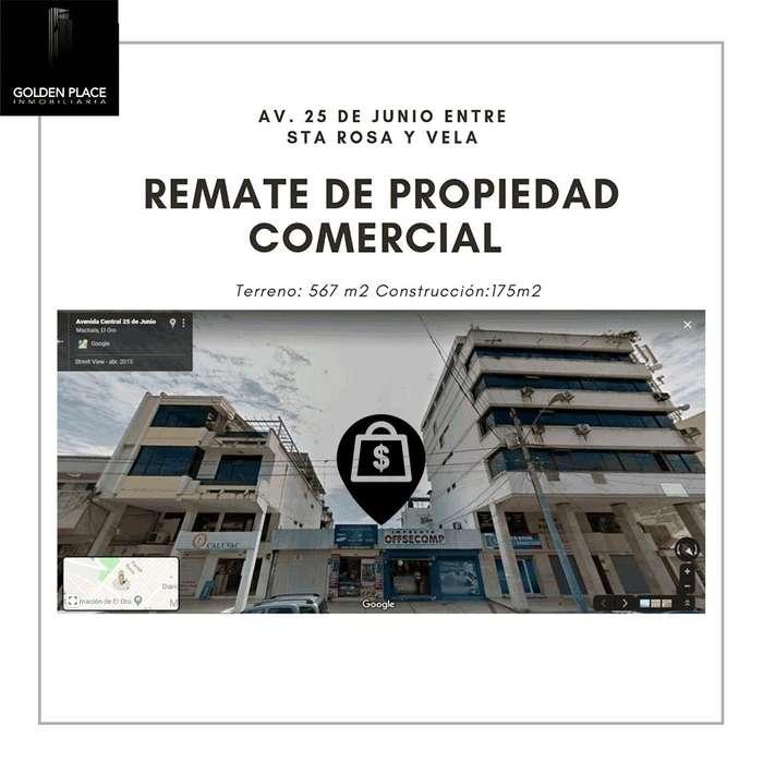 REMATE JUDICIAL EN AV. 25 DE JUNIO ( CON LOCALES DE ARRIENDO)