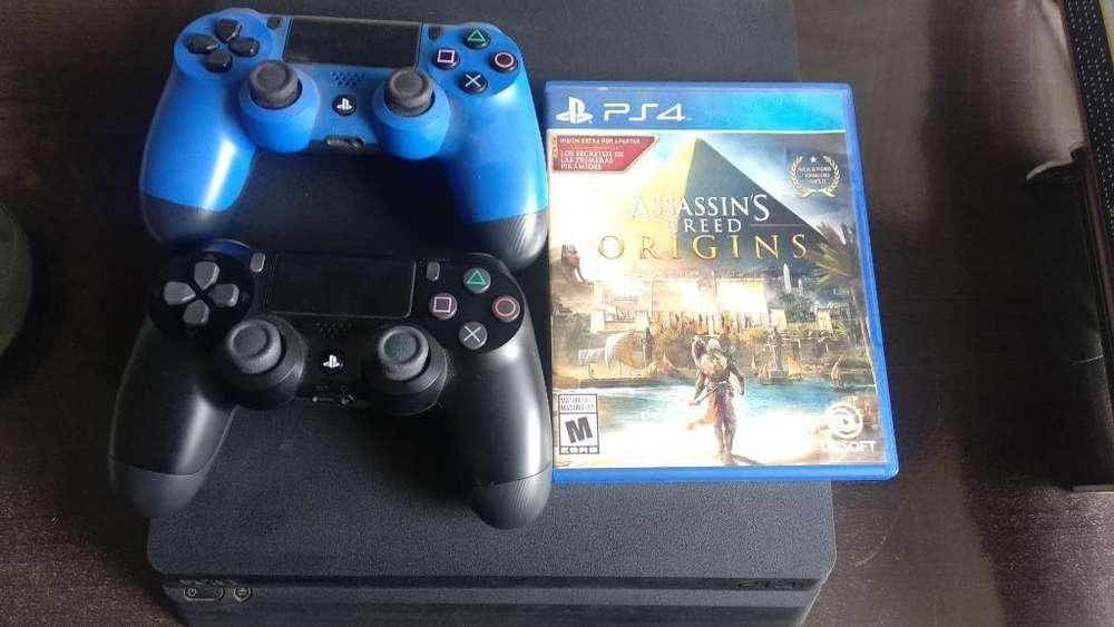 Playstation 4 1tera, 2 Mandos Y 1 Juego
