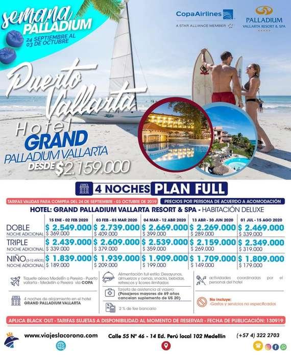 Viaje a Puerto Vallarta con Viajes la Corona H. GRAN PALLADIUM VALLARTA