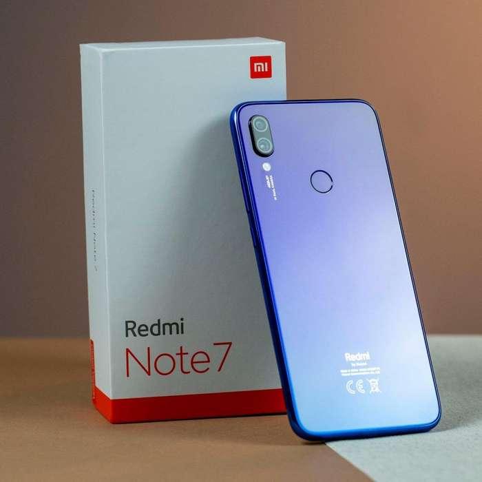 Xiaomi Redmi Note 7 Versión Global Azul Neptuno 4GB Ram 64GB Rom SELLADO NUEVO