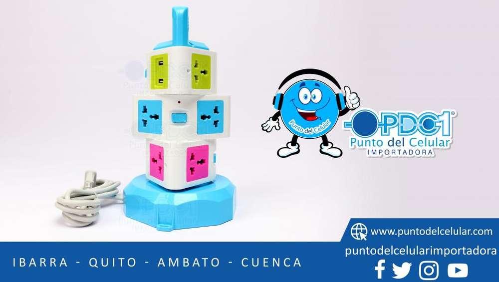 Cortapico 3 Pisos Usb Charging Vertical Socket-pdcelular