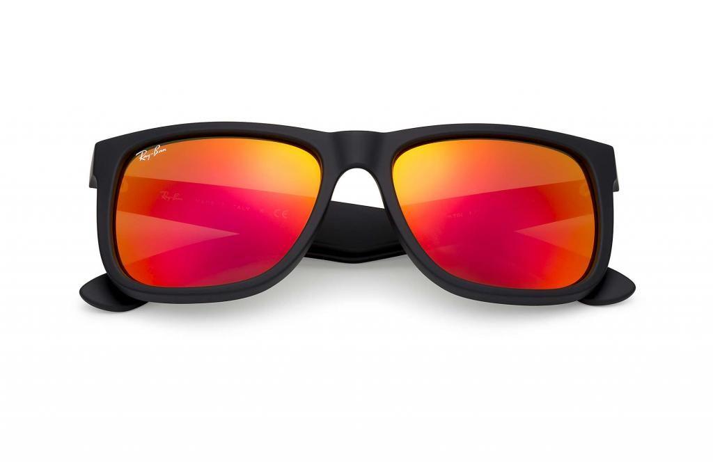 8ae72fe16c Gafas Ray Ban Wayfarer 4165 Justin Lente Espejo Polarizado Rojo Unisex 54 mm
