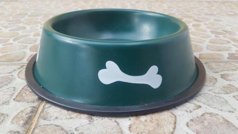 Plato para perro de plastico