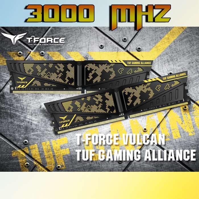 Memoria Ram Pc Ddr4 16gb 3000mhz T-force Vulcan Tuf (2x8gb)