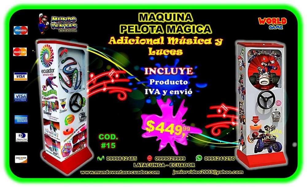 MAQUINA DE CHICLES VOLANTE