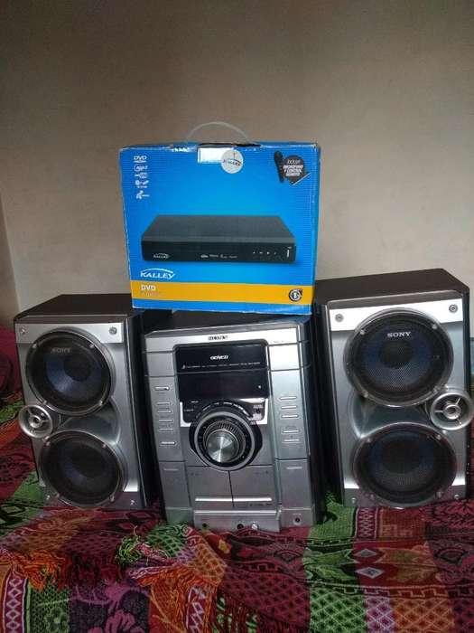 Equipo de Sonido, Dvd Y Celular