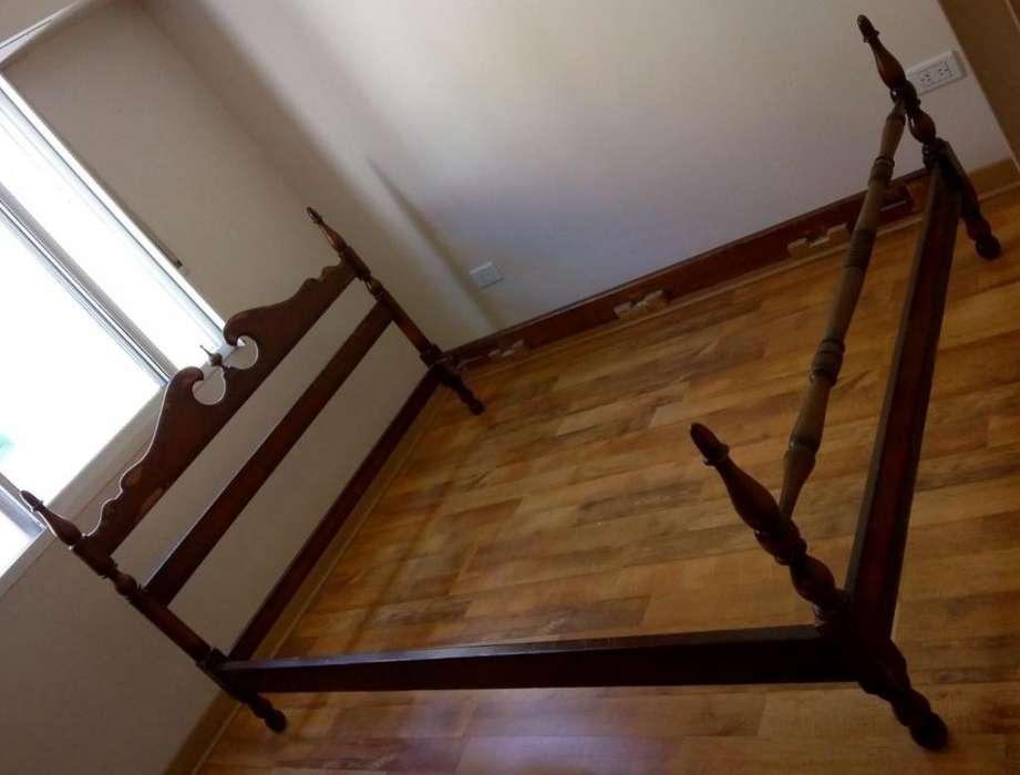 Cama de madera 2 plazas