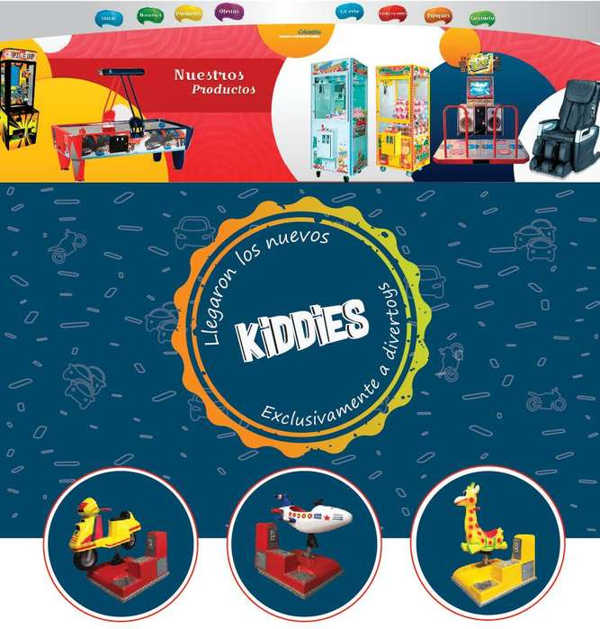 Máquinas Mecánicas, Kiddies Nuevos, Máquinas Infantiles
