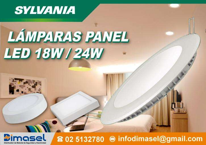 <strong>lamparas</strong> PANEL LED 12W, 18W, 24W, SOBREPUESTO, EMPOTRABLE, TUBOS LED