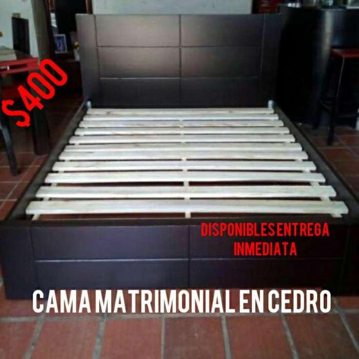 Cama Matrimonial en Cedro .nuevas