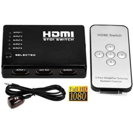 switcher selector hdmi de 5 entradas