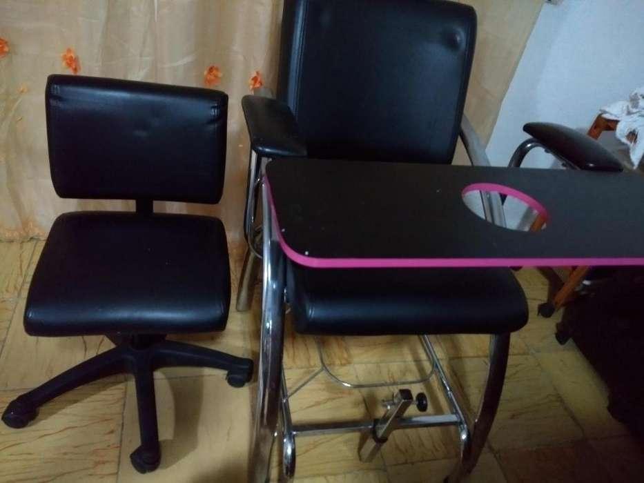 Vendo silla para manicure y pedicure