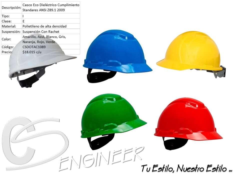 Casco de Seguridad Color: Blanco, Azul, Amarillo, Verde, Rojo