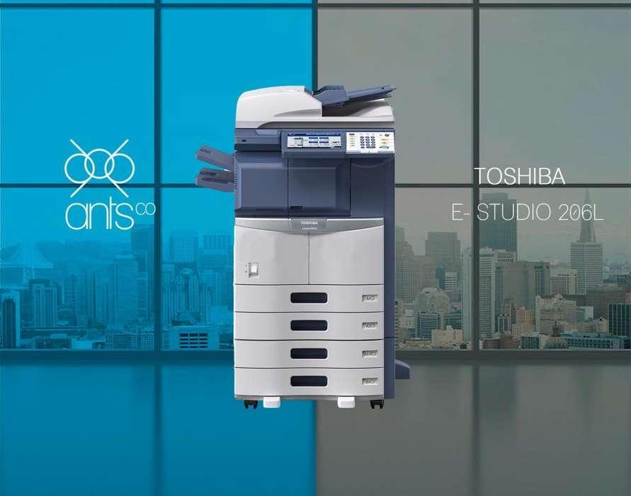 Toshiba 206L - Multifuncional Laser Blanco y Negro - Impresión, Escáner, Copiado - Usada - Ants Co