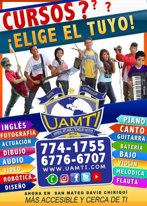 Learn music in David Chiriquí tel: 774-1755 or whatsapp 6776-6707.