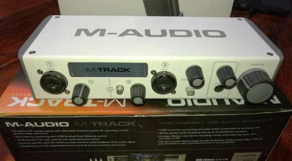 Placa de Sonido M-track Audio Usb