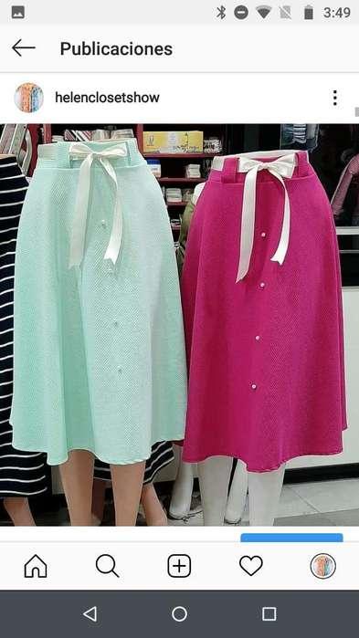 Faldas Polleras de Vestir <strong>femenina</strong>s