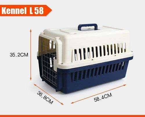 Kennel Transportador pequeño L58, piso impermeable, cumple Normas para viajar en Avión