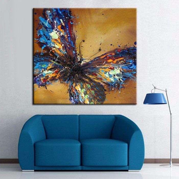 Hermosa mariposa azul 1889