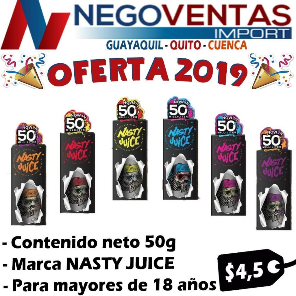 ESENCIAS DE VAPIADORES MARCA NASTY