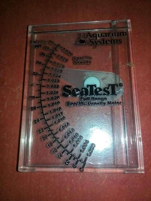 densimetro o medidor sal para acuario marino