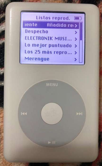 <strong>ipod</strong> Blanco Rueda de Clic Digital 20gb