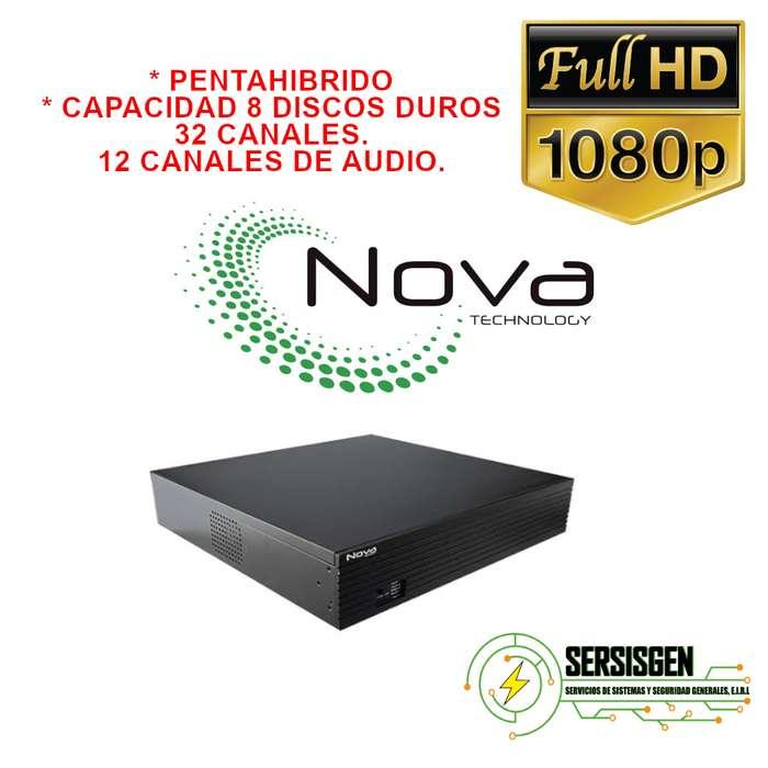 XVR Nova pentahibrido 32 canales y 12 canales xe audio