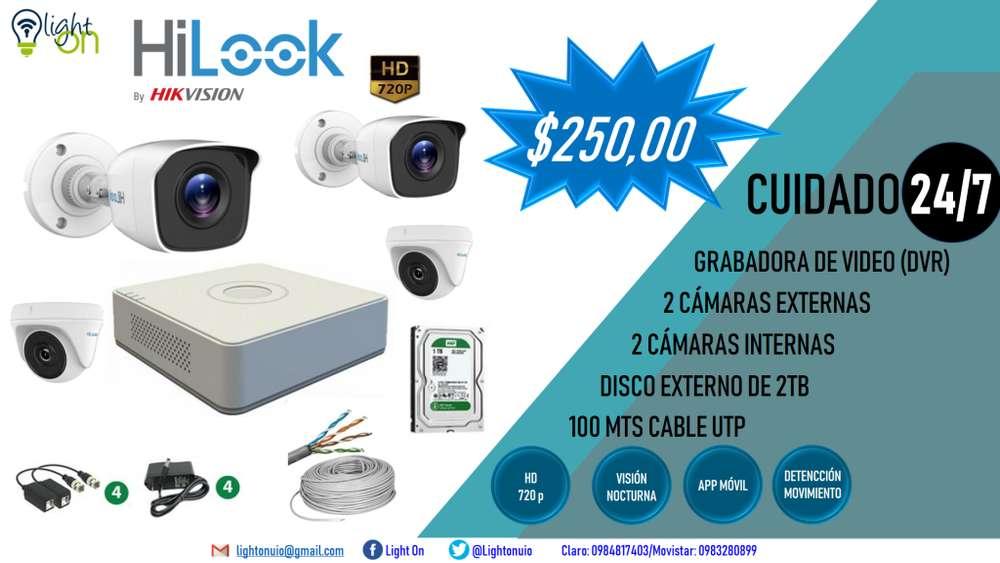 Kit De Camaras De Seguridad Hilook By Hikvision