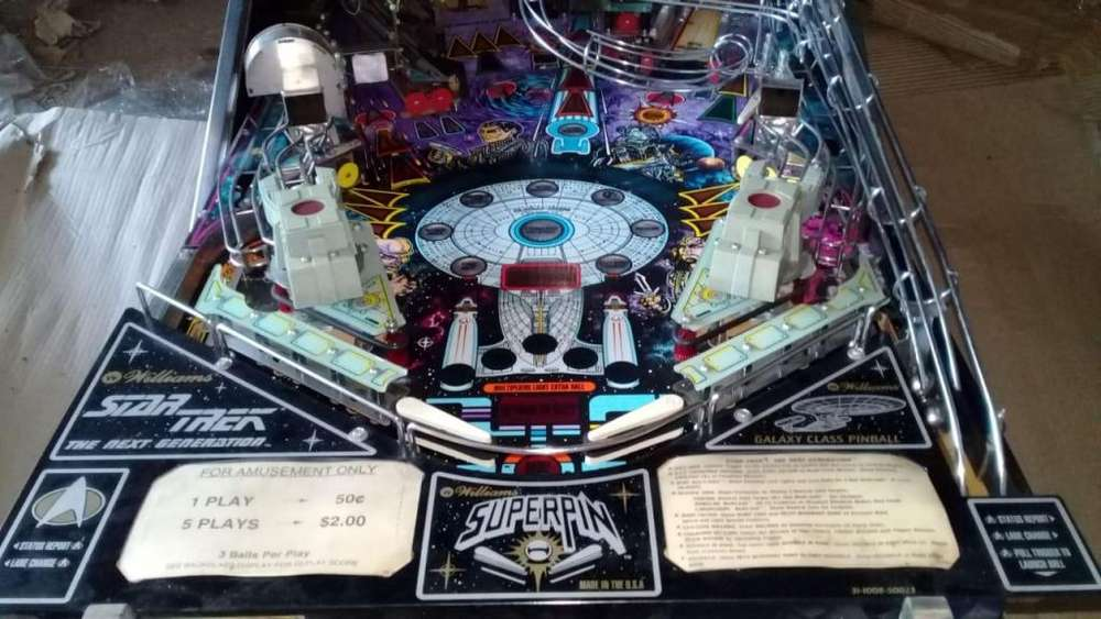 FLIPPER PINBALL STAR TREK :THE NEXT GENERATION WILLIAMS 1993.