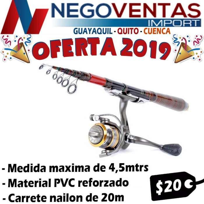 CAÑA DEPORTIVA DE PESCAR DE 4.10M INCLUYE CARRETE