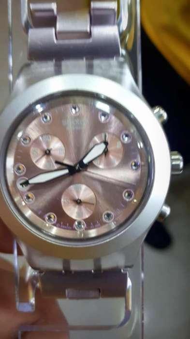 Reloj Swatch Irony Diaphane Tornasol, Dama, Original Suizo, Usado, Estado 9.5 de 10