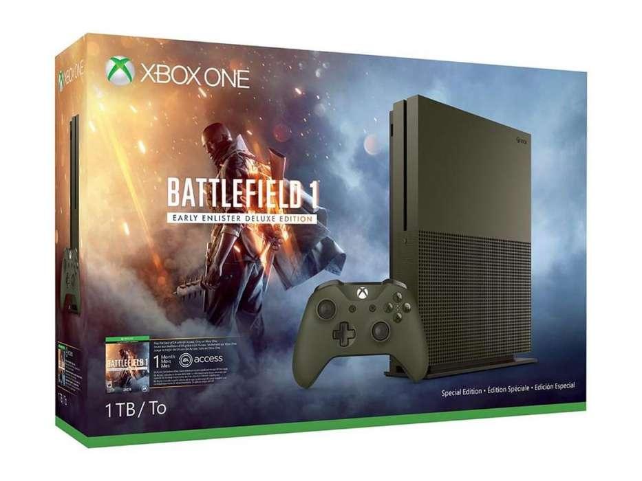 Xbox One S Especial Battlefield1 Dd 1tb 4k Envio Gratis
