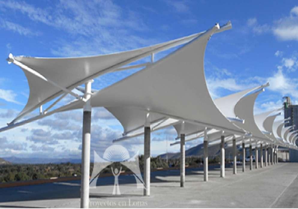estructura para cubierta con lona