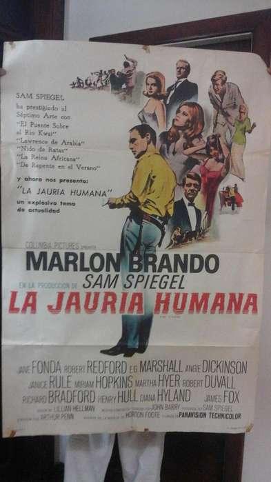 Póster Película La Jauría Humana Marlon Brando 1966