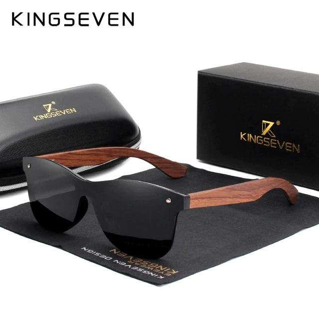 Gafas De Sol Kingseven Originales En Madera, Filtro Uv400
