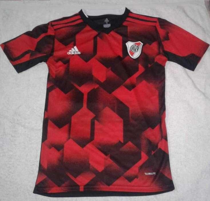 80ac578b9 NUEVA Camiseta River Plate Negra y Roja modelo alternativo 2019 Niños