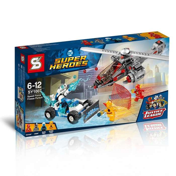 Lego Sy1007 Helicoptero Auto Flash Cyborg Reverse Frost