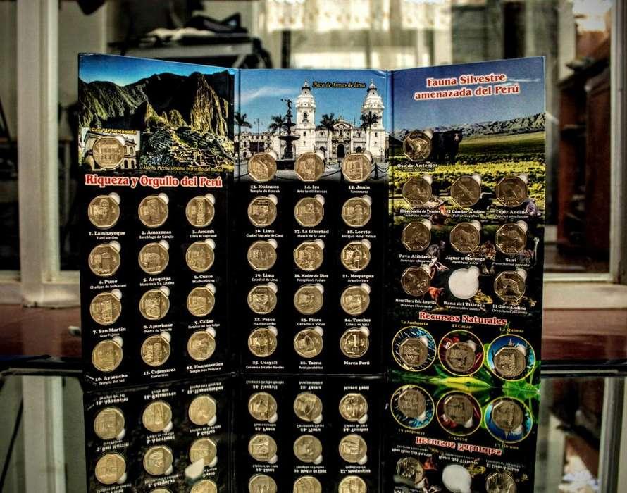 Álbumes de colección - series numismáticas del Perú - Monedas soles