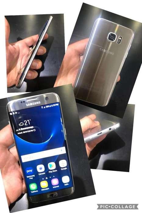 SAMSUNG S7 EDGE PLATEADO 32G EXPANDIBLE 4G RAM LECTOR DE HUELLA TODO ORIGINAL