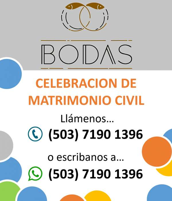 CELEBRAMOS SU MATRIMONIO CIVIL